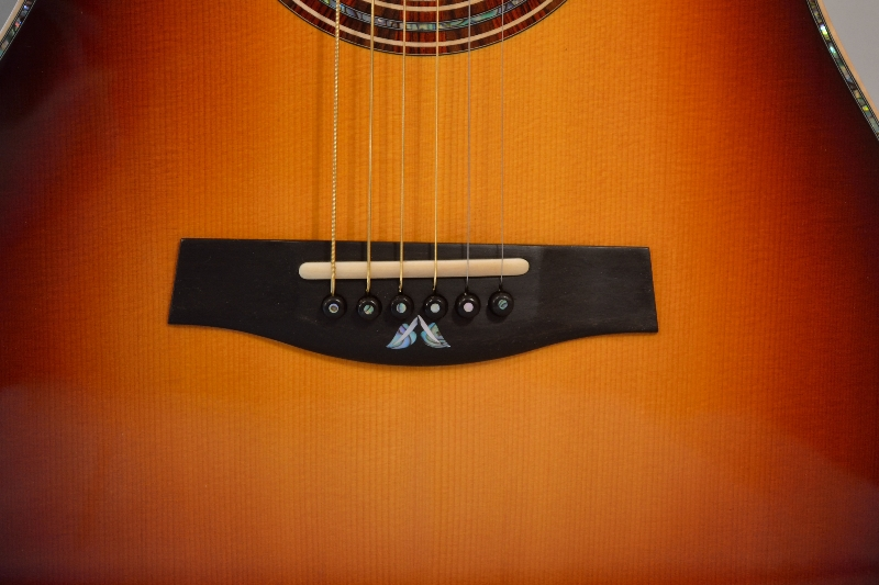 Guitar Bridge Vine Leaf Inlay